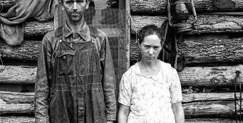 Gloomy Sharecropper Couple