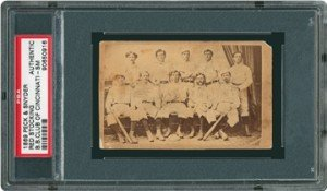Peck and Snyder baseball card from 1860s, a great content marketing example