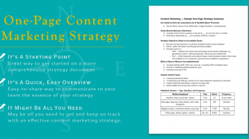One Great Idea: A Simple One-Page Content Marketing Strategy