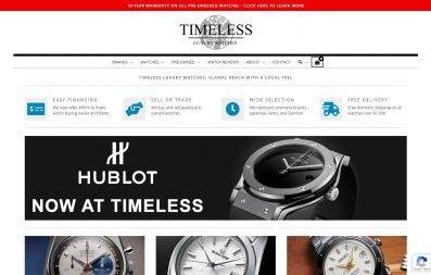 Timeless Luxury Watches website
